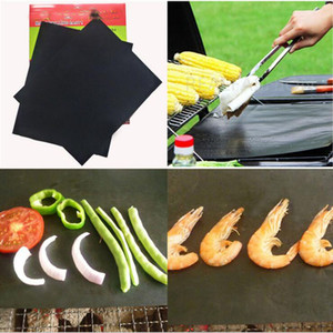 Eco-Friendly Silicone Mat Barbecue Tool Accessories Baking Bake Mat Oven Liner Reusable Non-Stick BBQ Grill Mats 40*33cm