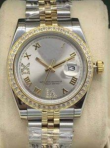 36 мм Римский цифровой Алмаз наружное кольцо механические автоматические женские часы Нержавеющая сталь 2813 механизм календарь часы различные,