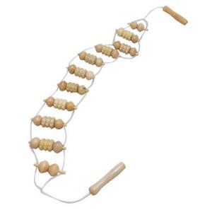 1 Unids Conveniente Masajeador Trasero Rueda De Madera Cuerpo Completo Cuello Detrás Pierna Cintura Rodillo Masaje Cuidado Terapéutico