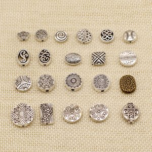 50 Pieces Mix Jewelry Findings Components Perforated Carved Rectangular Small Hole Spacers Beads HJ239