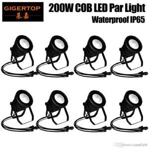 Rabatt Preis 8er 200W DMX512 Control Led COB Par Can-Licht wasserdicht IP65 Led Bühnenbeleuchtung China LED-Beleuchtung Lieferant