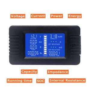 Tensão Corrente DC voltímetro amperímetro Power Energy Digital Cap Ohm horas SOC medidor de LCD DC 60-200V 10A / 50A / 100A / 200A / 300A Shunt