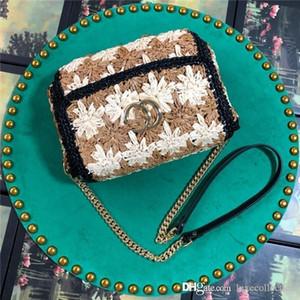 Le nouveau sac à main en cuir pour femme Sac tissé pour femme à la mode Sac bandoulière avec rabat sur l'épaule Taille 21-23-4 cm
