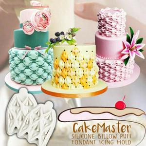 2020 Silicone Utile del merletto del fiore del fondente della muffa della torta della Rosa Piante cottura a velo Mold Billow Puff della torta del fondente della muffa che decora attrezzo