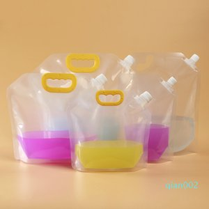 가방 투명 액체 포장 가방 1.5L / 2.5L / 5L 포장 일회용 맥주 가방 휴대용 밀폐 된 플라스틱 주스 우유