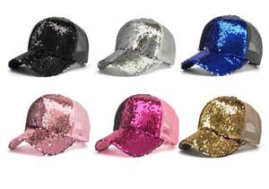 حورية البحر الترتر البيسبول القبعات الصيف شبكة كاب عارضة الكرة قبعة snapback للجنسين قبعات البيسبول القبعات الأزياء العصرية الهيب هوب الشمس قبعة D768