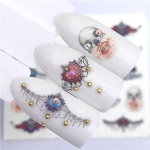 1 Hoja de Diseño de Elementos de Pascua Para Nail Art Watermark Tattoo Decoraciones Etiqueta Engomada Del Clavo de Transferencia de Agua Calcomanías Decoración