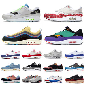Nike Air Max 1 one Airmax 87 Sketch To Shelf Schematic Bred 1 Mens running shoes Daisy Tokyo Maze Script 1s Windbreaker Max CNY 남성 여성 스포츠 스니커즈 36-45