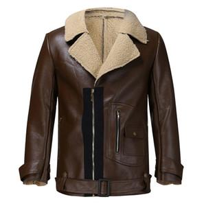Para hombre de la chaqueta de cuero de imitación de piel chaquetas de moto primavera ropa otoño para Hombre Manga larga frescos de las capas de la chaqueta de solapa