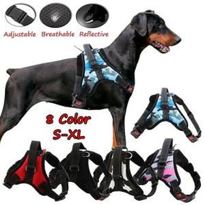 No Pull Adjustable Dog Pet Vest Harness Quality Nylon Dog Leash Collar Small Medium Large XL Breathable Reflective