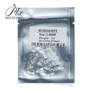1Carat laboratorio de alta calidad crecido piedra en bruto de cuerpo a cuerpo de diamante 1,0 ~ 1,5 mm corte redondo DEF blanco moissanita color para la fabricación de joyas