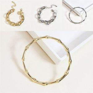Hip Hop Personality Unisex Bracelets INS Fashion Hollow Pattern Men Women Bangle Night Club Lover Trendy Bracelet Jewelry#260