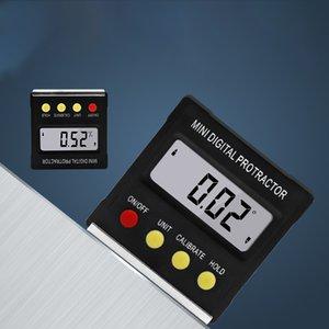 360 degrés Mini Digital Protractor inclinomètre Niveau électronique Boîte de base magnétique Outils de mesure Niveau boîte Goniomètre mètre chaud