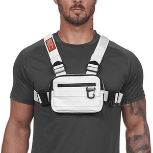 Kleine Chest Rig Männer Tasche Trendy Tactical Außenstreet Bügel-Weste-Kasten-Beutel für Frauen Externe Haken Sport Pocke G176