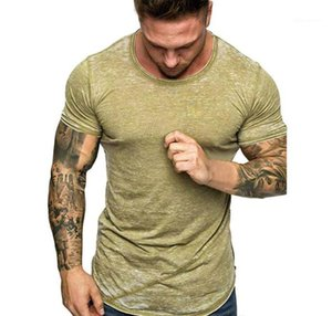 Mens Designer Tshirt Round Neck Summer Short Sleeved Mens Tshirt Teenager Male Tees Solid Color Boy Tops