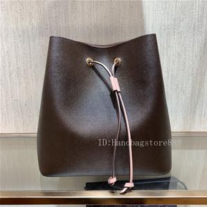 las mujeres crossbody alta calidad de la manera famosa NEONOE cubo de cuero 44022 bolsas de hombro L flores bolsos de diseño de impresión dama bolsas monedero