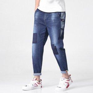 Fairy2019 Piacevole Thin primavera Haren Man Fashion Trend unito spaccato della forza elastica Jeans auto-coltivazione Will lunghezza Pants