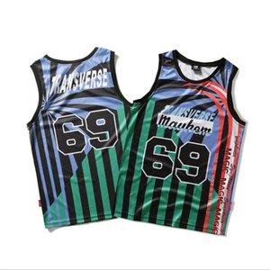 Hip Hop Stripe hommes Gilets d'été INS Mode rapide adolescents sec Marque T-shirts de sport de plein air Respirant Boys Sports Tops