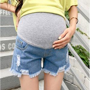 Sıcak Satış Hamile Kadınlar Gebelik Yaz Giyim CX200605 İçin 2020 Yaz Yeni Geliş Annelik Moda Kısa Jeans Denim Hot Pants