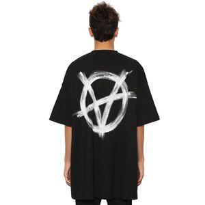 20SS VT Anti War Series T-shirt imprimé mode solide simple manches courtes Hommes Femmes d'été T Hip Hop rue T-shirt HFYMTX620