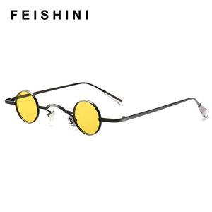 Feishini 2020 Classic Vintage Gothic Vampire Polarized Round Sunglasses Men Small Steampunk Brand Design Glasses Oculos De Sol UXWvK