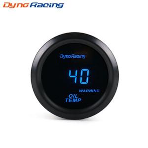 """Dynoracing Oil Temp gauge 2 """"52mm Digital 40-150C Medidor de temperatura del aceite LED azul con sensor de coche medidor BX101463"""
