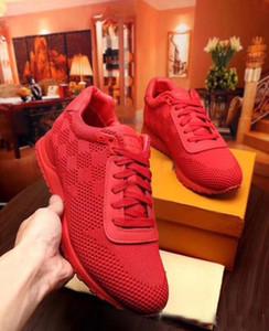 Envío de la gota Al aire libre Masculino Ocio Zapatillas de deporte de lujo Mosca de línea Tejido con cordones A cuadros deporte zapatillas Zapatos Hombre 38-44