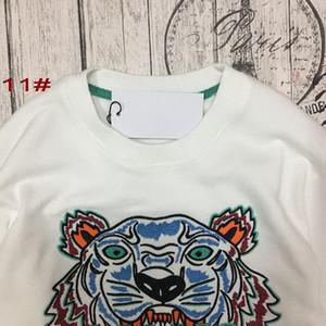 Moda-envío del bordado de la cabeza del tigre hombre suéter de la mujer de alta calidad de manga larga del O-cuello del suéter de la chaqueta de los Hoodies de las mujeres