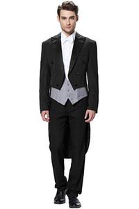 Men's Three Piece Wedding suit Tailcoat & Tuxedo Pan Three Pieces (Jacket+Vest+Pants) 2 Button Trim Fit Great for Wedding Bussiness
