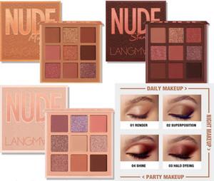 Langmanni magico Eyeshadow Palette Nudo Deserto facile da indossare Pearlescent Matte cosmetici trucco 9 della gamma di colori
