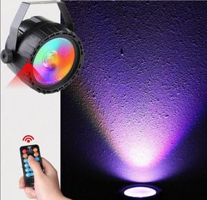 원격 제어 사운드 자동 DMX 미니 LED COB 스포트 라이트 RGB + UV 파 라이트 바 KTV 무대 조명 10W 전구 램프 정착물 LLFA