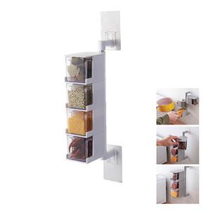 ZLCA condimento bagagli Scatole Spice Jar cucina condimento Box Spezie Storager Wall Hanging Rotating organizzazione della cucina Strumenti