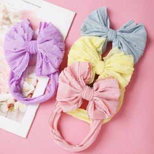 Baby Headband Big Bows For Girls Hair Accessories Jacquard Toddler Wide Headwrap Soft Newborn Hairband Elastic Kids Turban