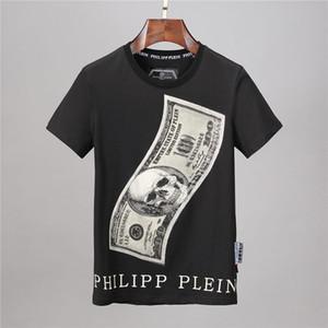 Lüks Erkek Tasarımcılar Tişörtlü Hip Hop Mens Tasarımcılar İskelet kafa Baskı T Shirt Erkekler Kadınlar Yaz Kısa Kollu Tişörtler