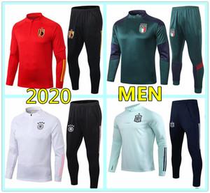 Nuevo euro 2020 Italia Bélgica chándal de fútbol equipo nacional hombres Italy Belgium Germany soccer tracksuit 2020 2021 Alemania chandal futbol traje de entrenamiento trotar