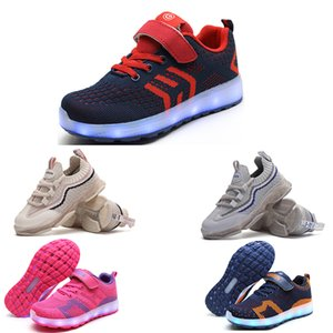 Nuovo arrivo scarpe da corsa per ragazzo e ragazza bianco rosa nero blu arancione moda ragazzi ragazze led scarpe scarpe sneakers sportivi 45