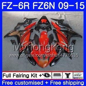 Cuerpo para YAMAHA FZ6N FZ6 R FZ 6N FZ6R Naranja blk hot 09 10 11 12 13 14 15 239HM.5 FZ-6R FZ 6R 2009 2010 2011 2012 2014 2014 2015