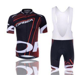 2017 ORBEA Cycling Clothing 자전거 저지 Ropa Ciclismo Mens 자전거 여름 셔츠 세트 사이클링 유니폼 9D 패드 자전거 반바지 빨간색