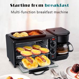 3 in 1 Elettrico Macchina per la colazione Multifunzione Macchina per il caffè padella Mini Forno domestico pane forno per pizza padella
