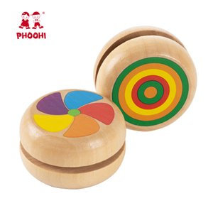 Yoyo Jouets en bois Coccinelle Jouets pour enfants Yo-Yo Yo Yo Creative jouets pour les enfants Cadeaux professionnels Yoyo balle cotillons PHOOHI