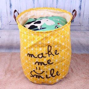 Plegable de lavandería cesta del almacenaje para los juguetes Geometría de almacenamiento barril Permanente almacenamiento de ropa de lavandería Cubo sostenedor del organizador de la bolsa