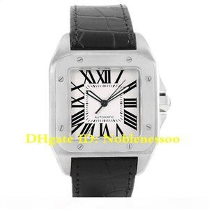 6 Style Luxury Mens 100 XL Silver Dial Steel Black Strap Watch W20073X8 W200728G W20107X7 W200737G W20072X7 W200728 Men's Automatic Wat