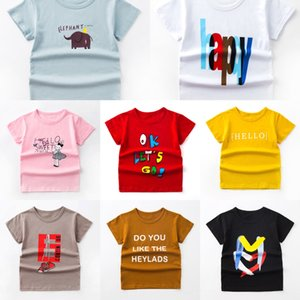 8gGP9 Children's short-sleeved cotton boy base top girl's baby half-sleeve Children's short-sleeved T-shirt T-shirt cotton boy base top girl