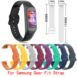 Para Replacement Samsung Gear Fit SM-R370 Assista bracelete de silicone suave Sports Watch Band Pulseira Pulseira Correia