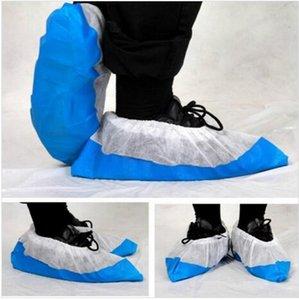 Shoe descartável Covers Household não-tecido Tecido Tampa da sapata de inicialização antiderrapante Odor à prova de galocha sapatos impermeáveis tampa exterior Overshoes ZYQ583