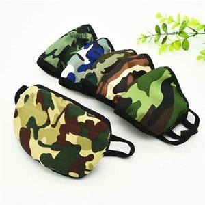 Camouflage Printing Designer Face Masks Outdoor Riding Washing Mask Ordinary Civilian Double-layer Protection Dust Face Masks