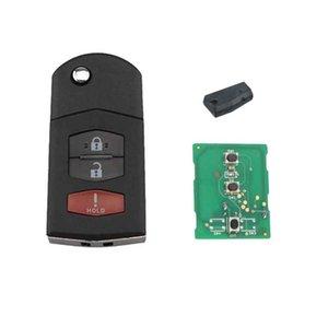 Брелок дистанционного ключа без ключа для Mazda 2 5 CX-7 CX-9 2007-2015 3 кнопки KPU41788 ID63 80-бит чип оригинальные ключи 313,8 МГц
