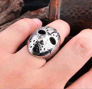 Men Black Friday Jason Hockey Punk Rock Ring Maske Horror Schädel-Finger-Ring Originelle Geschenke für Männer Schmuck Geschenk Dropship