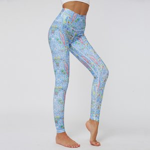 Branded Digital Printing Plant Department Hit Underpants Gao Waist Elastic Force Sports Yoga Pants Female