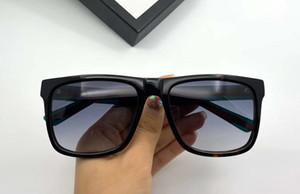 상자와 0340S 직사각형 검은 색 사각형 선글라스 블랙 그레이 음영 남성 패션 선글라스 안경 선글라스 새로운